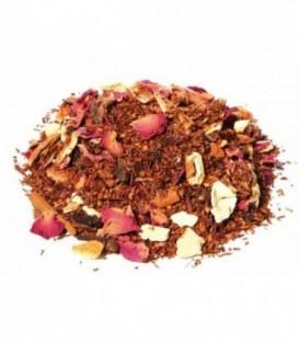 Saveur cannelle-orangeIngrédients:Rooibos naturel*, pomme*, arôme naturel, écorces d'orange*, bâtons de cannel