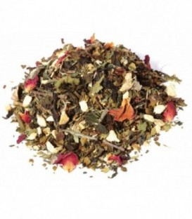 Saveur pamplemousse-gingembreIngrédients:Thé vert China Chun Mee*, maté vert*, gingembre*, ortie*, arôme natur