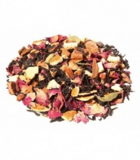 Saveur cannelle-orangeIngrédients:Thé noir Assam*, -Inde du Sud*, écorces d'orange*, pomme*, bâtons de cannell