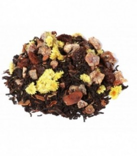 Ingrédients:Thé noir Assam*, -Inde du Sud*, datte* (datte, farine de riz)* (24%), raisin* (r