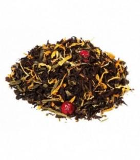 Saveur mangue-papayeIngrédients:Thé noir Assam*, -Inde du Sud*, thé vert de Chine Sencha*, arôme naturel, souc