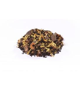 Saveur spéculoos-cannelle-vanilleIngrédients:Thé noir Assam*, -Inde du Sud*, écorces de cacao*, fève de cacao