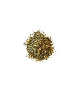 Ingrédients:Thé vert de Chine Sencha*, écorces de citron*, citronnelle*, arôme naturel, me