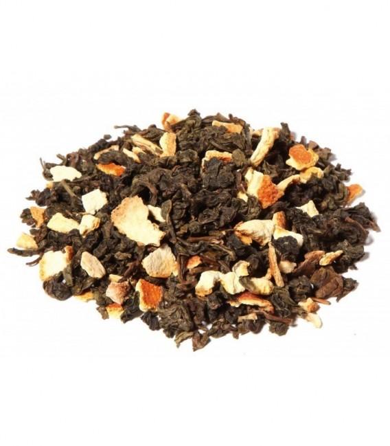 Saveur orangeIngrédients:China Oolong*, écorces d'orange* (16%), arôme naturel, mangue**Issu de l'agric