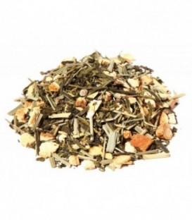 Ingrédients:Thé vert de Chine Sencha*, citronnelle*, gingembre*(10%), arôme naturel, éc
