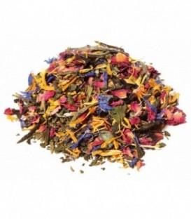 Saveur exotique-bergamoteIngrédients:Thé vert de Chine Sencha*, thé blanc Pai Mu Tan*, arôme naturel, souci*,