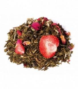 Ingrédients:Thé vert de Chine Sencha*, arôme naturel, China White Monkey*, fraise*, fra