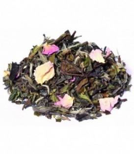 Saveur groseille-framboiseIngrédients:Thé vert China Chun Mee*, thé blanc Pai Mu Tan*, thé vert de Chine Sench