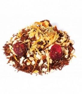 Saveur canneberge-orange-gingembreIngrédients:Rooibos naturel*, gingembre*, écorces d'orange*, arôme naturel,