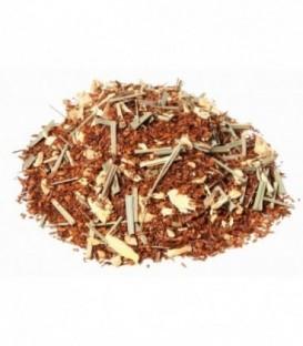 Saveur gingembre-citronIngrédients:Rooibos naturel*, citronnelle* (14%), gingembre*(11%), arôme naturel.