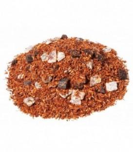 Saveur datte-vanilleIngrédients:Rooibos naturel*, datte*(datte, farine de riz)*(10%), arôme naturel, bourbon v