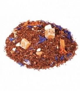 Saveur orange-pamplemousseIngrédients:Rooibos naturel*, écorces d'orange*, arôme naturel, fleurs de bleuet*, m